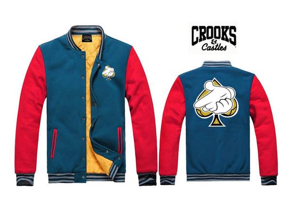 Trapacões e Castelos casacos camisolas frete grátis Crooks diamante roupas de inverno autum novo estilo de hip hop de algodão de suor J7