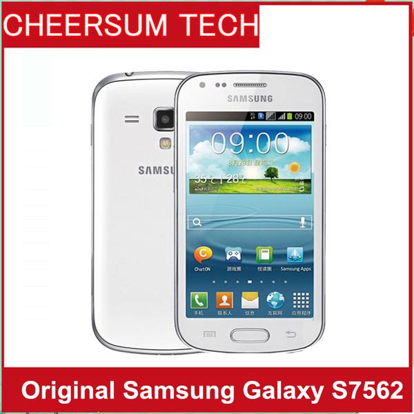 S7562 téléphone originale Samsung Galaxy Tendance Duos double cartes SIM GSM 3G 4.0 '' Caméra Wifi GPS 5MP téléphone cellulaire déverrouillé Réformé