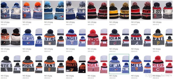 Blue Jays Astros Braves Giants Reds Red Sox Winter Beanie Cap Men Hat Beanie Knitted Hiphop Winter Hats For Women Fashion Warm Caps Mask