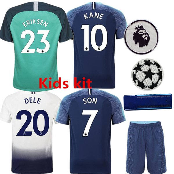 005dd6317ff 2018 19 Thai quality spurs child Suit Football jersey home KANE Dele Son  champion Third away