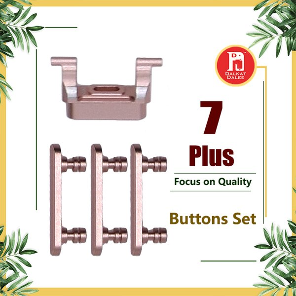 Para iphone 7 plus 3 em 1 botão lateral definir bloqueio chave da chave de alimentação on botões / off com mudo interruptor e botão de volume