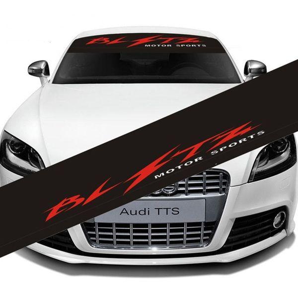Großhandel Auto Frontscheibe Bltz Windschutzscheibe Aufkleber Decals Motor Sport Windschutzscheibe Vorne Hinten Aufkleber Für Bmw Audi Bens Opel Fiat