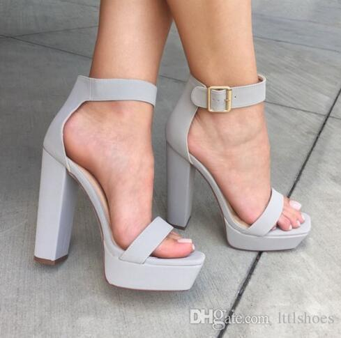 Fashion Super High Heels Open Toe Platform Women Sandals 2018 New Gladiator Ankle Straps Summer Shoes Dress Party Shoes Woman