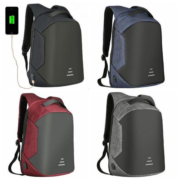 4 colores mochila de carga USB Mochila antirrobo 16 pulgadas mochilas portátiles unisex mochilas impermeables bolsas de computadora CCA9950 10pcs