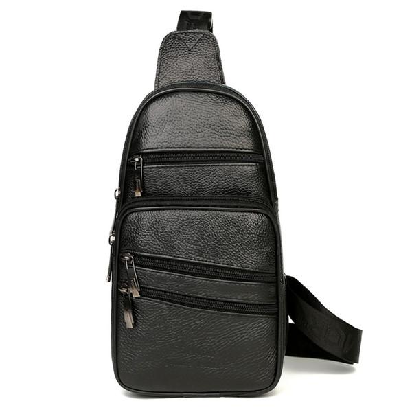 FONMOR New Vintage Genuine Leather for Men Chest Pack Single Shoulder Bag Mens Sling Bag Messenger Crossbody