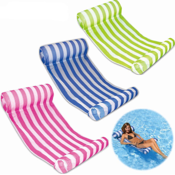 best selling Fashion Inflatable Floating Water Hammock Swimming Pools Spas Bed Chair For Beach Playing Tool 70*132cm WX9-591