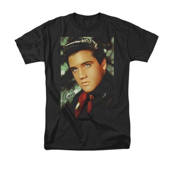 Elvis Presley - Red Scarf Adult T-Shirt Mens 2018 fashion Brand T Shirt O-Neck 100%cotton T-Shirt Tops Tee