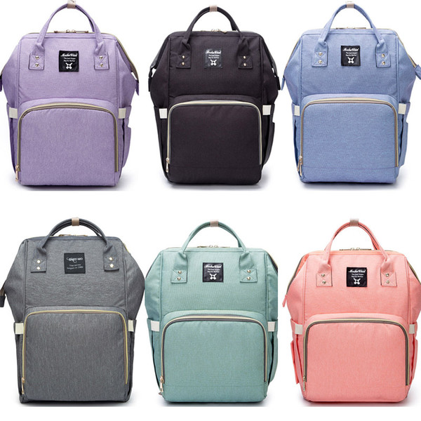 Mommy Backpacks Nappies Bags Mother Maternity Backpacks Outdoor Nursing Travel Bags Organizer Storage Bags 8Colors HH7-869