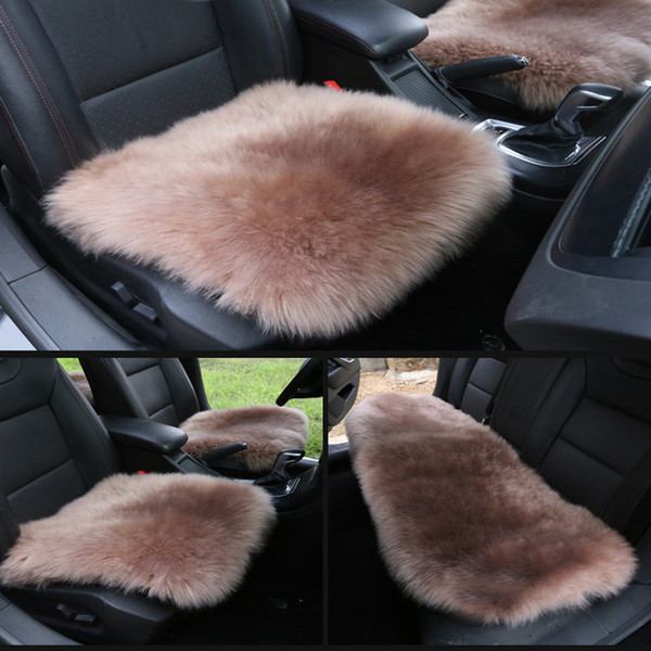 Luxury Faux Wool Auto Seat Cushion Car Winter Seat Cushion Warm Car Seat Covers Universal Size Home Office Chair Mat 3 pcs
