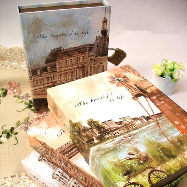 A5 Kreative Europäische Architektur Vintage Agenda Tagebuch 2017 Notebook Mit Schloss Für Koreanische Schule Schreibwaren Oder Reisenden Journal