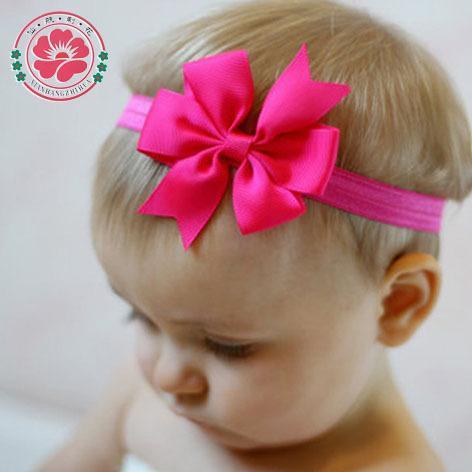 "20pcs//Lot 3/"" Inch Grosgrain Headdress Solid Hair Bow Bands Headbands Accessories"