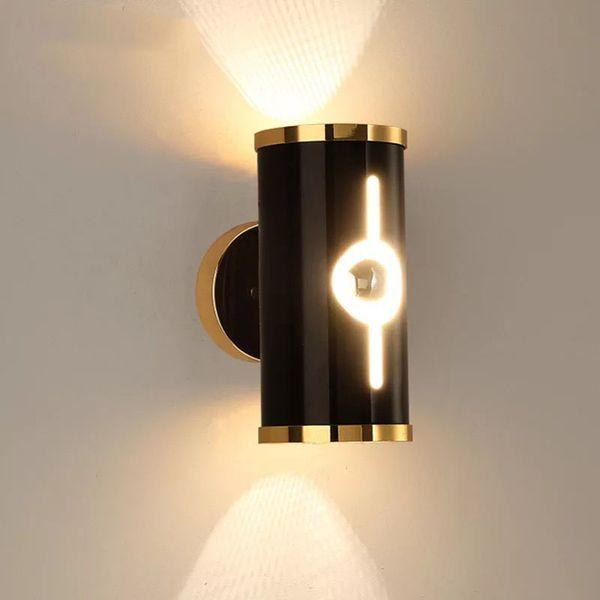 Großhandel Moderne Badezimmer Wandleuchte Schlafzimmer Leuchte Wand  Schwarze LED Lampen Aluminiumwandleuchte Innenbeleuchtung Von Lightfixture,  ...