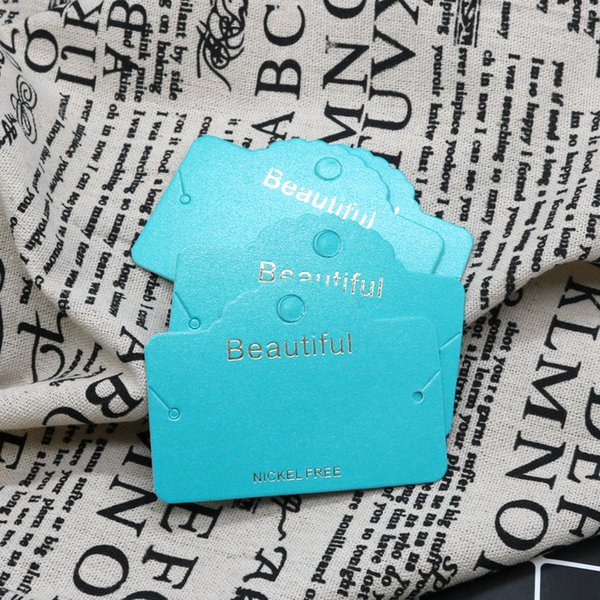 Paper Jewerly Earring Necklace Packaging Card China Jewerly Card 8.5*6.1cm 500pcs Hang Tag Oganized Tags Fashion Stud Packing Card