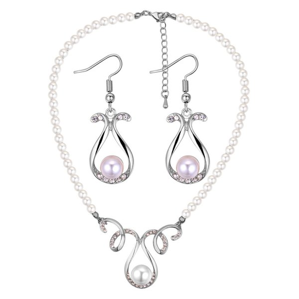 Ornaments Suit Restore Ancient Ways Luxurious Pearl A String Of Beads Vase Necklace Earrings Twinset Can Mixed Batch
