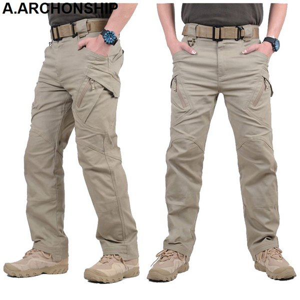 2017 IX9 II Men Militar Tactical Pants Combat Trousers SWAT Army Military Pants Mens Cargo Outdoors Pants Casual Cotton Trousers Y1892801