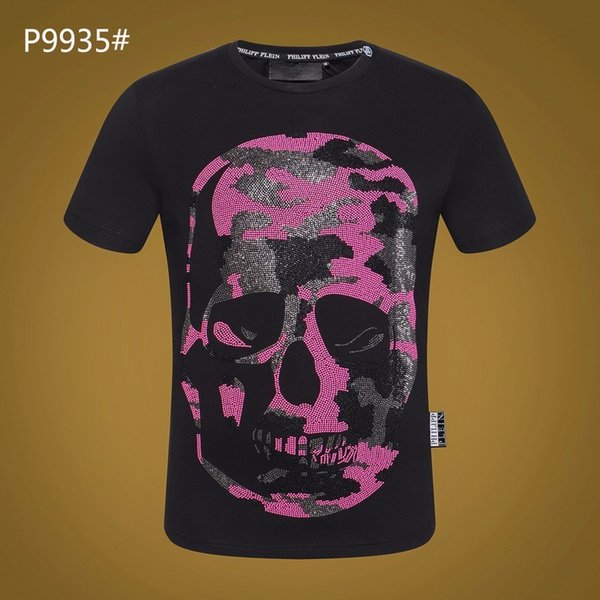 Skull t shirts diamond men cotton t-shirt fashion famous design breathable casual t round neck size Men's Clothing