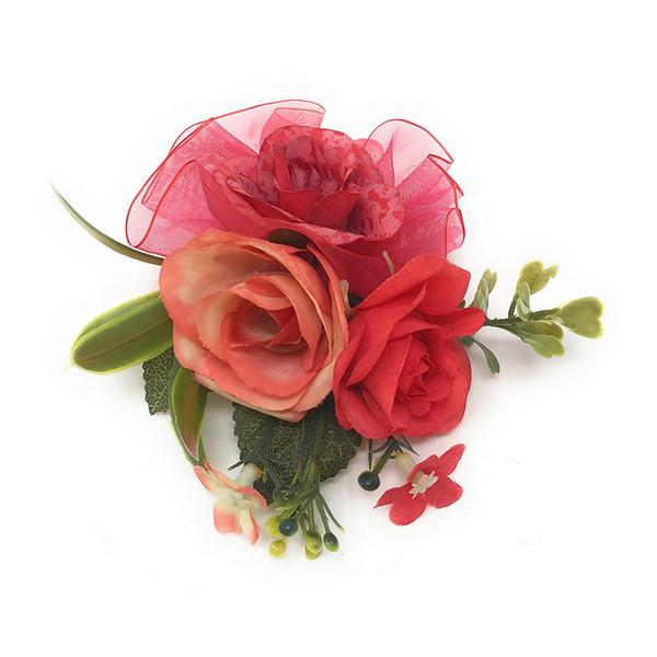 Cheap Women's Hair Accessories EVER FAIRY Hair Accessory Fabric Flower Corsage Brooch Child Full Dress Work Wear Hat Flower For Kids Wedding