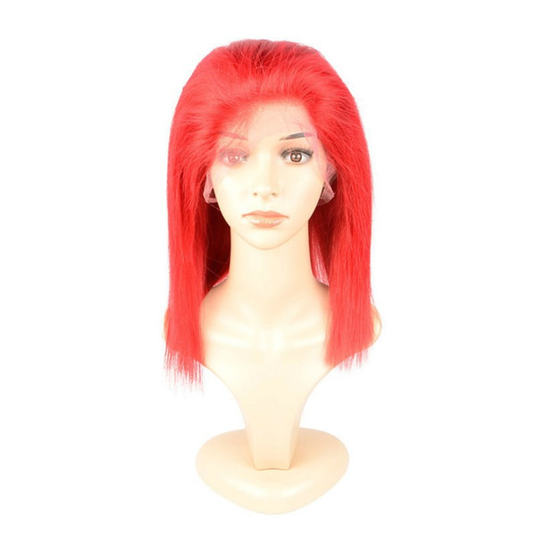 irgin Malaysian Red Lace Front Human Hair Wigs Straight Full Lace Wigs Human Hair Wigs Natural Hairline With Baby Hair