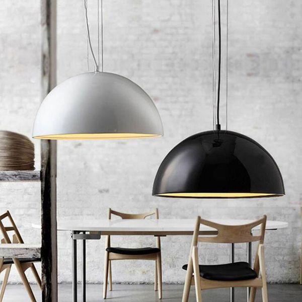 Diâmetro 40 cm 60 cm 90 cm novo moderno luz pingente preto / branco / ouro / marrom Sky Garden luminária para sala de jantar E27 levou luz C028