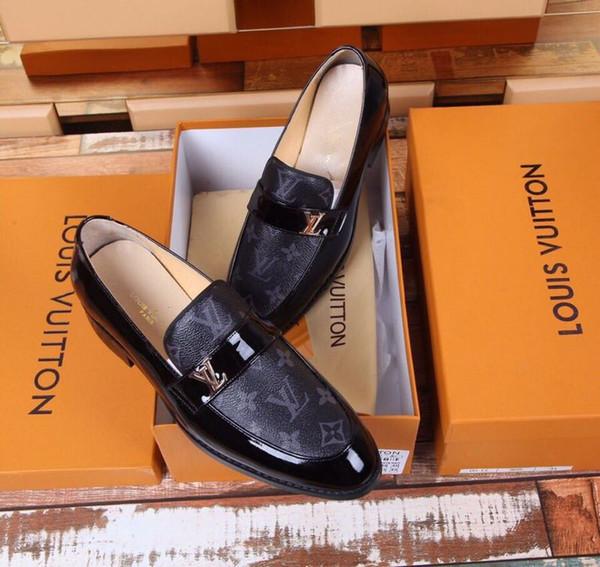 Высокое качество кожаный ремешок бизнес обувь 2075 Гуань мужчины платье обувь сапоги мокасины водители пряжки кроссовки сандалии