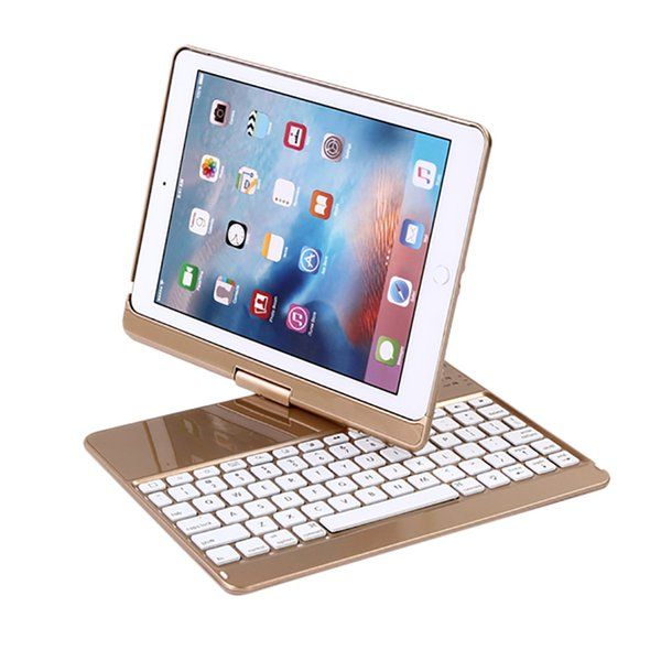 Backlit Bluetooth Keyboard Smart Rotate Folio Case For iPad/Pro9.7/Air/Air2 Wireless Keyboard Bluetooth Teclado