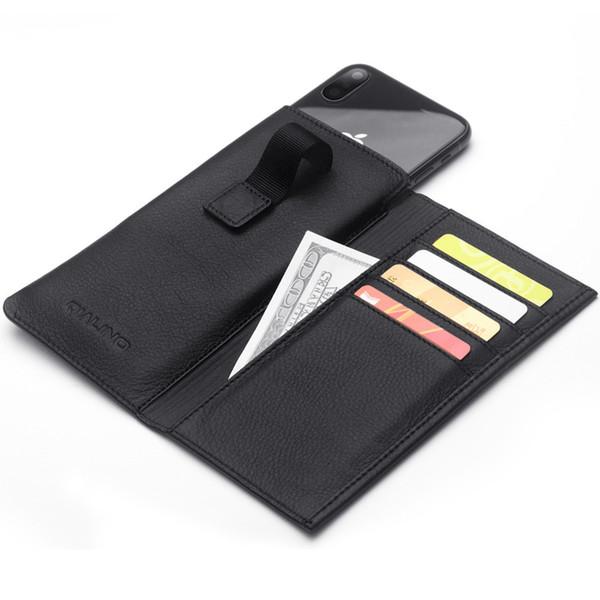 QIALINO multifunktions Leder Handyhülle Tasche Tasche Pull Tab Tasche Brieftasche Telefon Fall Flip Holster Tragetasche Kartenhalter für iPh