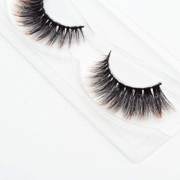 Seashine new design 3d colorful strip eyelashes party makeup false eyelashes 3d silk eyelashes colorful 3d synthetic eyelash