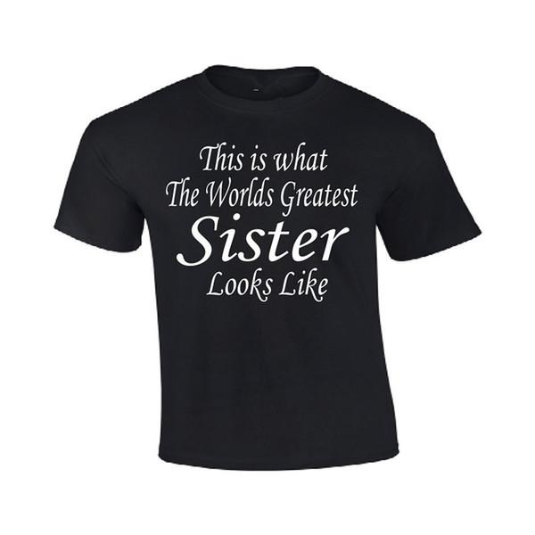 Mode 2018 Top Tees Kurzarm Geschenk Rundhals Herren Weltgrößte Schwester Mütter Tag Geburtstag Weihnachten Dusche Shirts