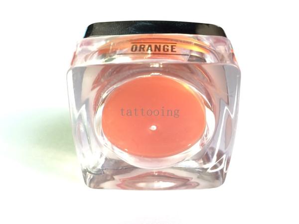 5 PCS / lot Biotouch Permanent De Maquillage Pigment Pro Orange Encre De Tatouage Ensemble Pour Eyeliner Lèvre Sourcils Maquillage Machine Rotative