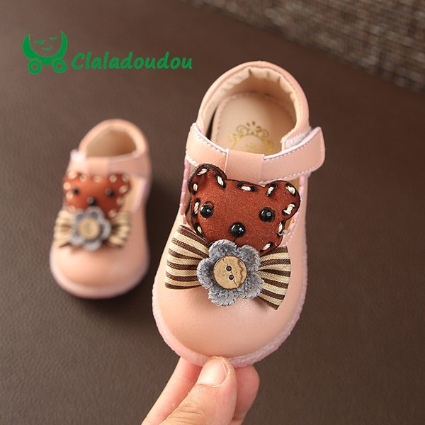 0-2 Years Old Brand 2018 Baby Girl Shoes Three Colors Princess Girls Pu Leather Shoes Infant Cartoon Bow Children
