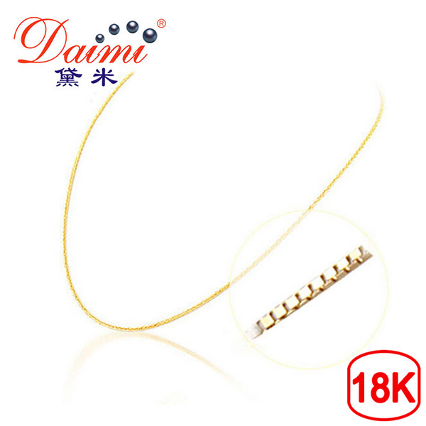 [DAIMI] Genuine 18K White Gold Yellow Gold Chain Cost Price Sale Pure Gold Necklace Best Gift For Women Y1892806