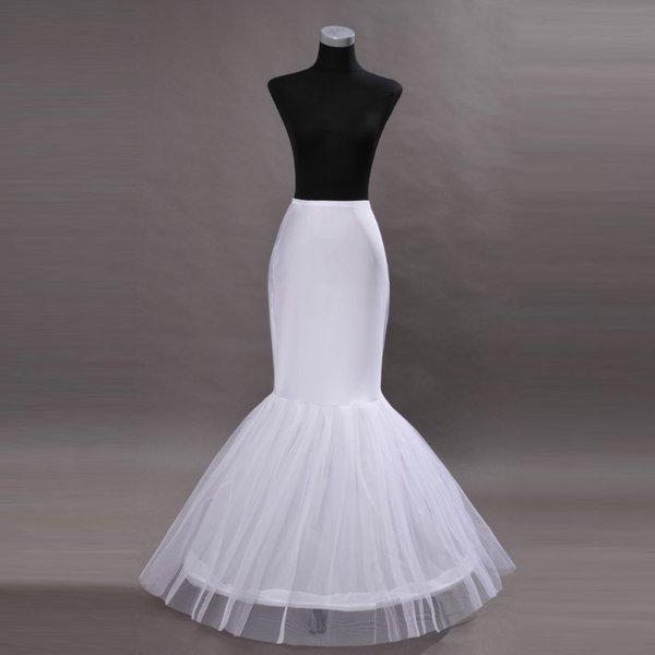 2019 pas cher blanc robe de mariée sirène jupon sirène slip longueur de plancher cerceau jupe jupon crinoline jupon jupon