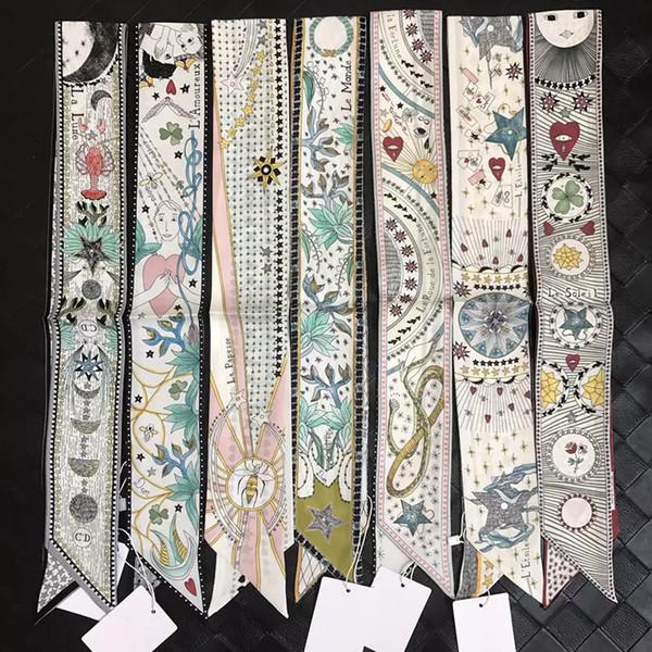 2018 Fashion Trend Riband Tasche Griff Schal Kleine Band Haarband Bandeaus Halsband Verkauf Mädchen Dekoration Drop Shipping ZSBD81