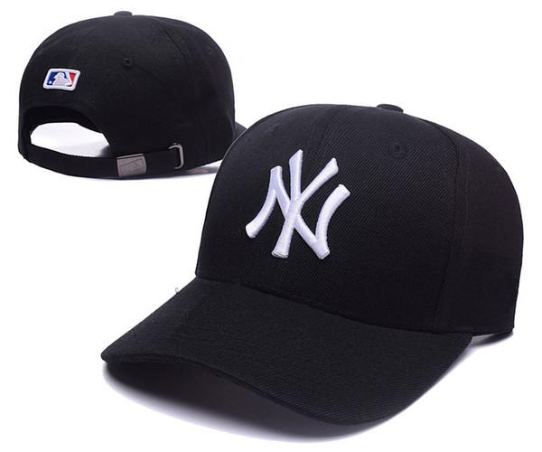 2018 ¡Nuevo! Compras en línea al por mayor NY Sombrero ajustado de la moda W Cartas Snapback Cap Hombres Mujeres Baloncesto Hip Pop