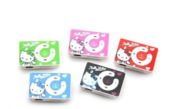 Non screen cartoon MP3 Mini USB MP3 player Support 2gb 4gb 8gb 16gb 32GB Micro SD TF Card Slot mix color random free shipping