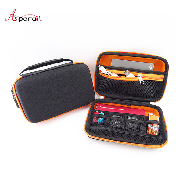 Asipartan Travel Electronic Product Storage Bags Digital Accessories Bag HDD USB Flash Drive Data Cable Power Bank Organizer
