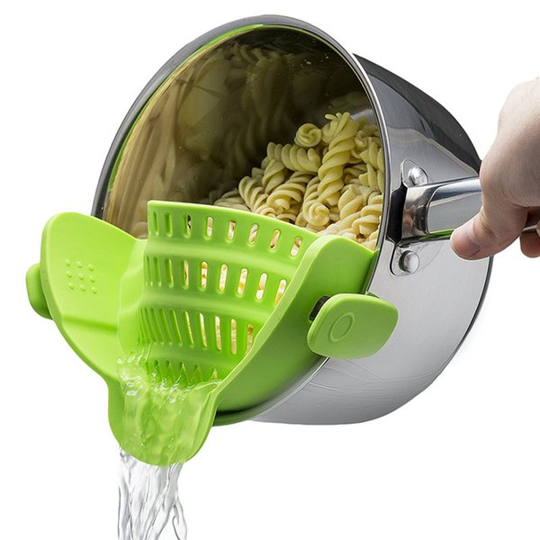 Silicone Pot Pan Bowl Funnel Strainer Kitchen Rice Washing Colander High quality Silicone Pot Pan Bowl Funnel Strainer Kitchen Rice Washing