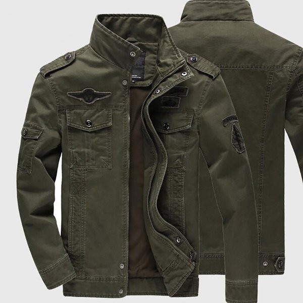 Winter Men jackets plus size 6XL Hot Cost Outerwear Embroidery Mens Jacket Casual Cotton Brand Coats