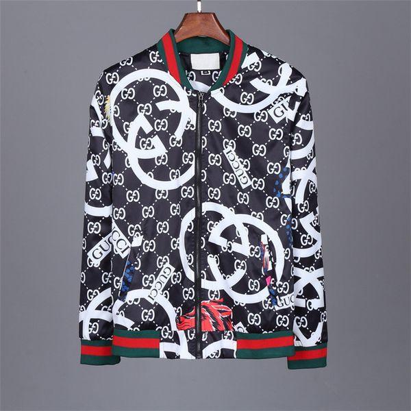 new 2018 2018 brand jacket men qiu dong outfit long sleeve short jacket tiger head fashion luxury designer fashion shirt