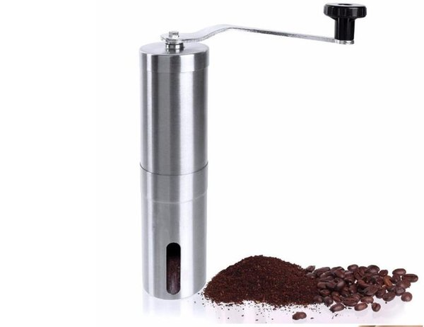 30pcs Coffee Grinder Manual Coffee Maker Meat Gorn 304 Stainless Steel Burr Mill Grinders Ceramic Corn Grinding Grain Milling free shipping