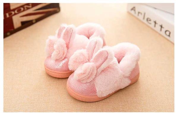 big discount the best 2018 sneakers 2018 New Kids Winter Cotton Slippers For Girl Children Lint Shoes Girls  Cute Slipper Anti Skid Rabbit Flat Bow Slipper Toddler Girl Slippers Boys  Boot ...