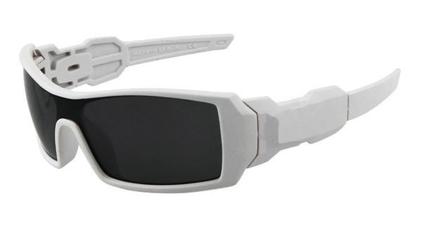 3e66a950536 Best Selling Men Outdoor Sports Sunglasses Oil Rig White Frame Gray Resin  Lenses Dazzle Colour Goggle Sun Glasses Suncloud Sunglasses Foster Grant ...