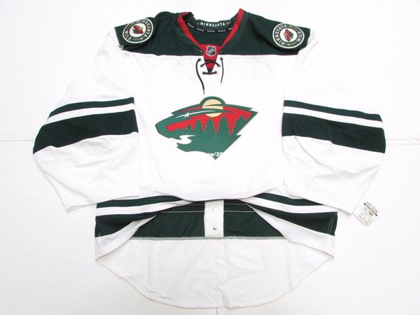 Cheap wholesale Custom MINNESOTA WILD AWAY TEAM ISSUED EDGE JERSEY GOALIE CUT 60 Mens Stitched Personalized hockey Jerseys