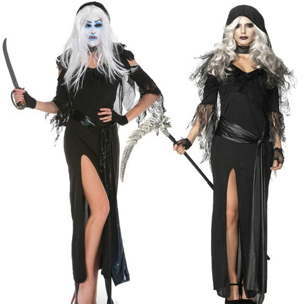 Halloween Masquerade Gothic Costume Sexy Black Dress New Witch Witch Costume Ghost Game Uniform Halloween Ghost party co