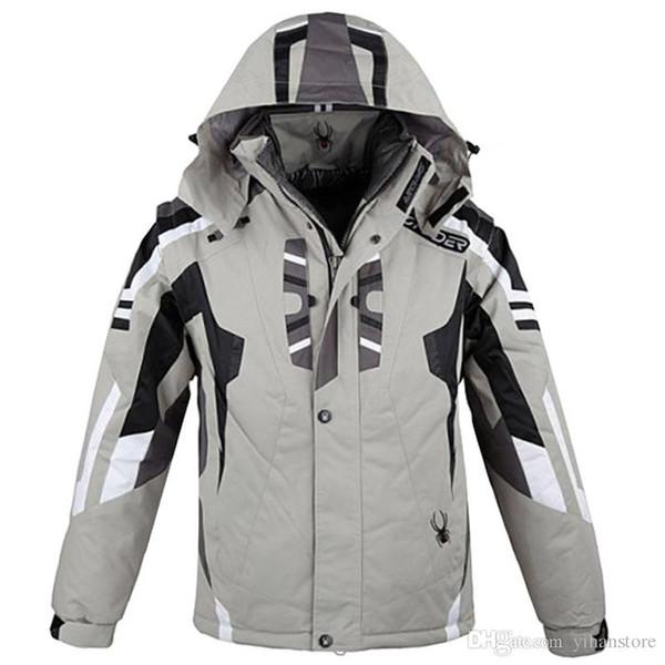 Wholesale- 2018 outdoor sportwear ski jacket men ski suit windproof waterproof skiing clothing Free Shipping hot sell