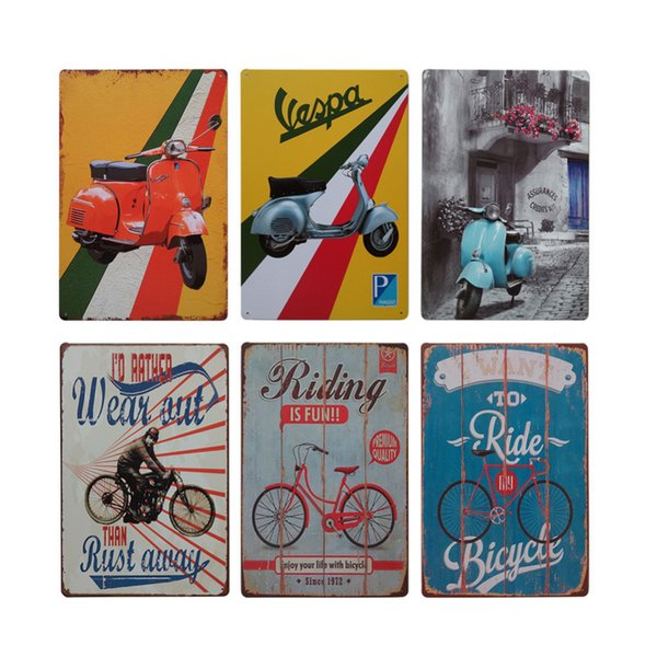 Motorcycle Bicycle Retro Style Iron Sign Painting Decorative Signs Plaque Vintage Metal Tin Sign Poster Bar Pub Club Home Decor Y18102409