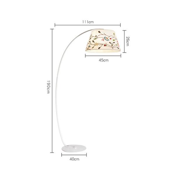 Moderne Stehleuchte Fisch Linie Steh Lampen Tuch Shade Coutryside Stil Design Home Luminaira Innendekoration Leuchte