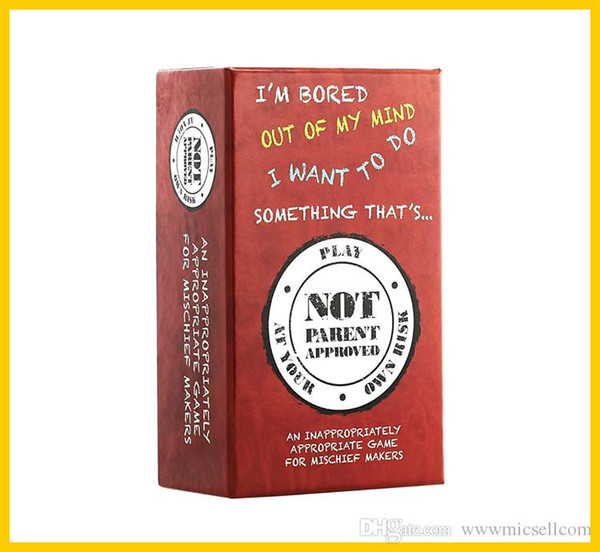 Adult Party Game Not Parent Approved A Card Game for Kids Families and Mischief Makers IMMEDIATELY DELIVERY