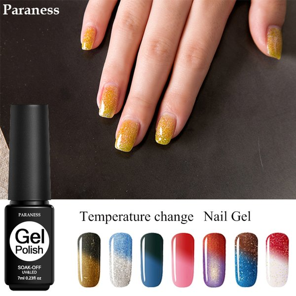 Paraness Mood Change Thermo Gel Nail Polish Professional Soak Off Lucky Gel Varnish Temperature Changing 29 Color UV Lacquer