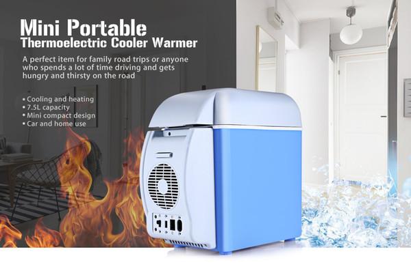top popular 7.5L Portable Mini 12V Car Refrigerator Cooler Heat Warmer Durable Vehicle Car Fridge Truck Electric Fridge for Travel RV Boat 2020